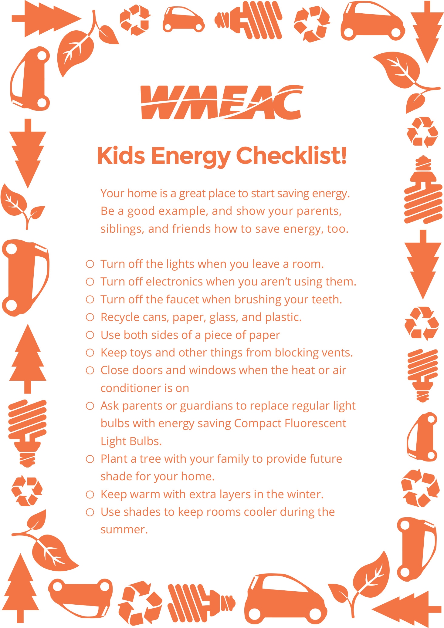 Energy Saving Tips For Summer energy saving tips - wmeac