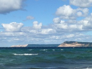 The surf washes the beach at Sleeping Bear Dunes National Lakeshore