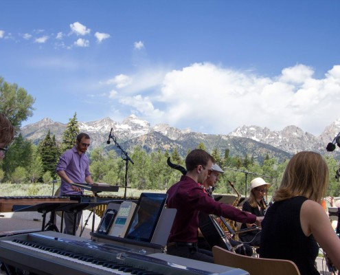 The Grand Valley State University New Music Ensemble performs in Grand Teton National Park Photo Credit:  John Jansen